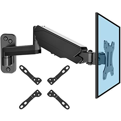 HUANUO Monitor Wandhalterung mit VESA-Erweiterungssatz für 13-32 Zoll LED LCD TV, Bildschirm, 360° Drehbar Gasdruckfeder Arm, VESA 75/100/200