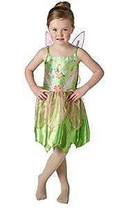 Peter Pan - Disfraz de Campanilla para niña, infantil talla 3-4 años (Rubie