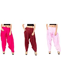 Rayon Patiala For Women Free Size Combo Pack Of 3 Patiyala Free Size - B077VX95YK