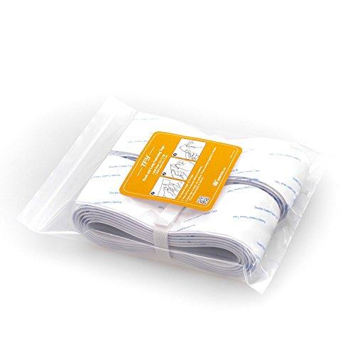 Preisvergleich Produktbild TFY Wiederverwendbares Selbstklebendes Aufhänge- und Abpackklebeband - Klebende Rückseiten - Klettklebeband Stoffverschluss - 2 Inches x 72 Inches (weiß)