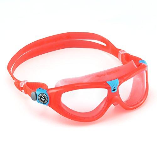 Aqua Sphere Seal 2 Kinder Taucherbrille / Schwimmbrille, durchsichtige Gläser (One Size) (Rot)