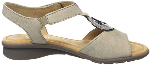 Gabor Ainsley, Sandales femme Brown (Taupe Nubuck/Agento Metallic)