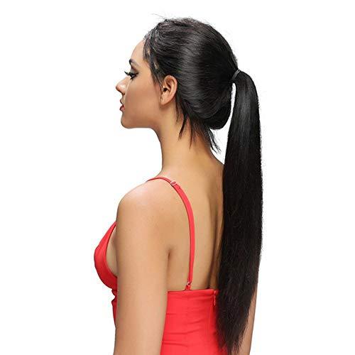 TYWIGS Lace Front Perücken Lange Gerade Pre Zupfte Haaransatz Menschliches Haar Perücken Brasilianisches Reines Haar für Schwarze Frauen 130% Dichte, Black (Sie Ihre Eigene Baby-halloween-kostüme Machen)