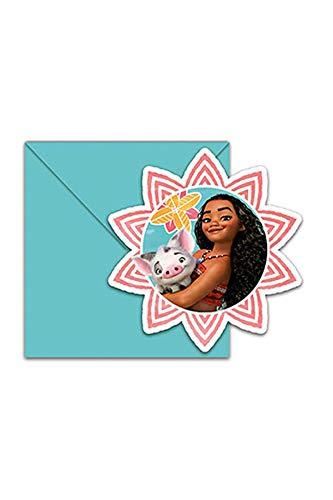 (Procos Disney Vaiana Moana EInladungskarten mit Umschlag 6 Stück)