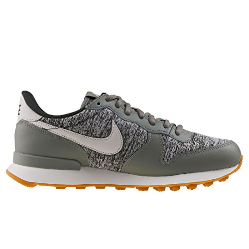 Nike Wmns Internationalist, Chaussures De Gymnastique Pour Femmes Grey (dark Stuc / Light Bone / Sequoia)