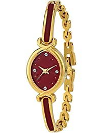 Swadesi Stuff Bangle Red And Gold Watch For Women (patti Red)