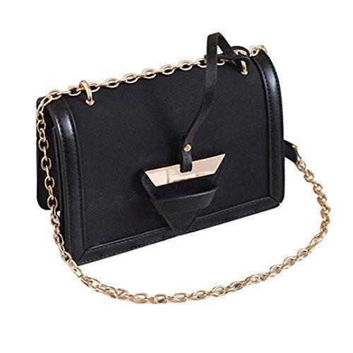 b0f88bce2b360 BZLine® Frauen Leder Handtasche kleine Messenger Schulter Square Vintage  Taschen Schwarz