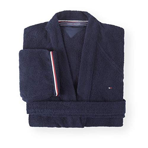 Preisvergleich Produktbild Tommy Hilfiger Kimono Uni Serie Größe M Farbe Navy