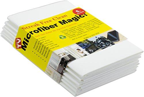 Trapos de microfibra Magic - Para limpieza: coche, cocina, cristal, pantallas de PC... Pack de toallas limpiadoras para secar auto, ventanas y todo tipo de superficies - ¡Ecológico y reutilizable! (6 Piezas)
