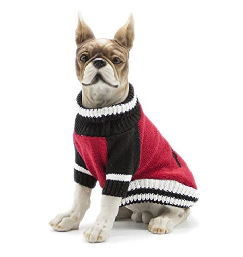 UMALL Hundepullover Lang für Chihuahua Pullover Winter Bekleidung Warm Hundekleidung für Kleine Hunde (College Kostüme Lustig)