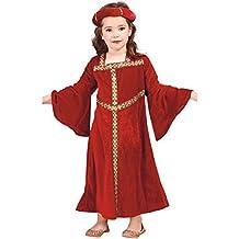 Disfraz de chica medieval granate (7-9 años)