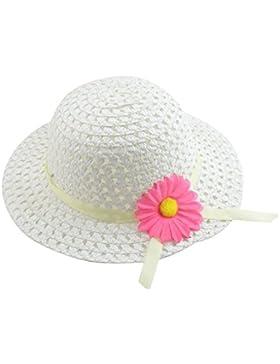 Hosaire Sombrero de Paja de Ala Ancha Verano Gorra Sombrero Anti UV Solar para Viaje Playa para Bebé Niñas Niños...