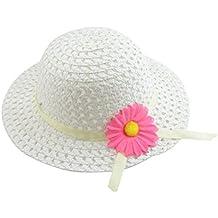 Leisial Sombrero de Paja Girasol Ala Ancha Verano Gorro Sombrero Viaje Playa Anti UV Solar para Bebé Niñas Niños