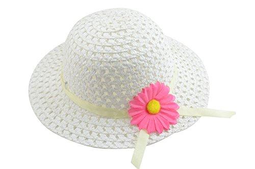 Hosaire Sombrero de Paja de Ala Ancha Verano Gorra Sombrero Anti UV Solar  para Viaje Playa 41b2d1aedc7