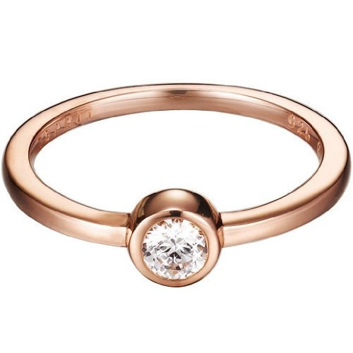Esprit Damen-Ring 925 Sterling Silber Gr.53 (16.9) ESRG92424B170 (Rose Gold Ring)