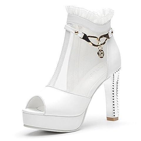 LAIKAJINDUN , Damen Elegant , Weiß - weiß - Größe: 39 EU