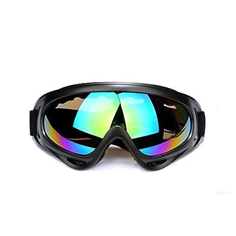 JTENG Masques et lunettes Ski, Snowboard Lunettes, Motoneige Moto Lunettes de protection Lunettes Lens Anti-poussière, UV Protection, lunettes équitation coupe-vent, lunettes de moto, lunettes de ski