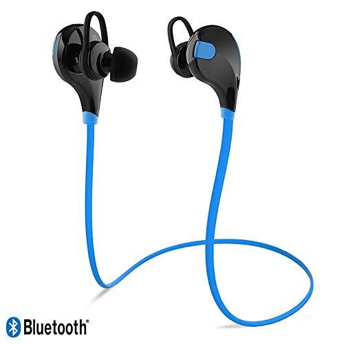 KARYLAX Écouteurs Kit Piéton Bluetooth Tour de Cou Bleu Sport pour Crosscall Action-X3 / Trekker-X4 / Core-X3 / Trekker-M1