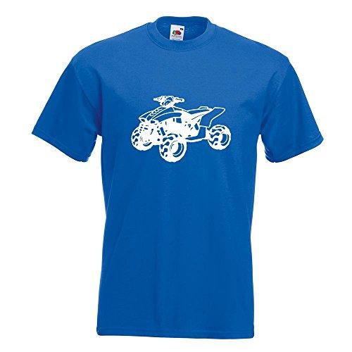 KIWISTAR - Quad Motorbike T-Shirt in 15 verschiedenen Farben - Herren Funshirt bedruckt Design Sprüche Spruch Motive Oberteil Baumwolle Print Größe S M L XL XXL Royal
