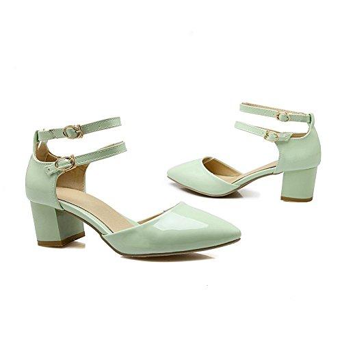 Adee Femme pointed-toe ankle-cuff polyuréthane Sandales Vert - vert