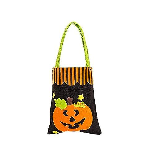 Sac de Cadeau Halloween Mignon sorcières Coloré Coloré Sac de bonbons, QinMM Emballage Enfants Sac de Rangement (Taille Unique, B)