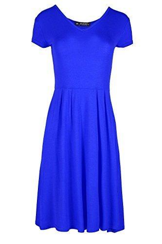 Oops Outlet -  Vestito  - Donna Royal Blue