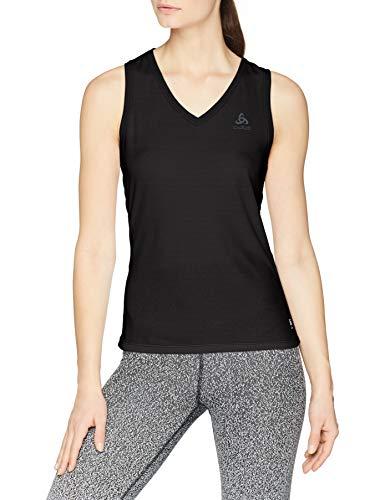 V-neck-mode-top (Odlo Damen BL TOP V-Neck Singlet Active F-Dry Light Unterhemd, Black, M)