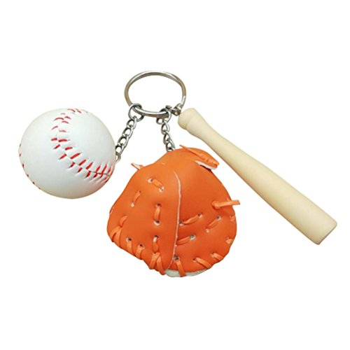 eychain Baseball Keychain Bag Charm Anhänger (Orange) ()