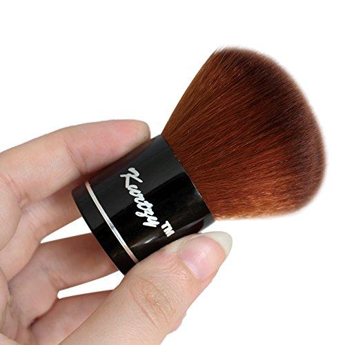 Fett Make-up-set (Professioneller Weicher Mineralpuder Reise Make-up Kabuki Schminkpinsel von Kurtzy - Für Make-up, Grundierungscreme, Markierstift und Mischung - Große Abdeckung Schönheit Werkzeug - Hochwertiger Natürlicher und Synthetischer Applikator)