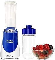 Ariete Drink N Go Countertop Blenders with 2 Jars - 563 Blue, ARIETE BLENDER DRINKN GO WHT BLUE 0563/01, ART56