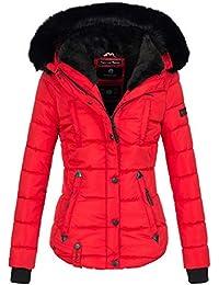 Marikoo warme Damen Winter Jacke Winterjacke Steppjacke gefüttert Kunstfell  B618 16e0e91e7f