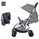 Star Ibaby - Silla de paseo Air +, reclinable con barra de seguridad, color gris