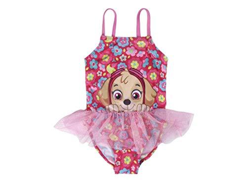 Paw Patrol Skye | Mädchen Premium Einteiler Kostüm Badeanzug Schön Designt | Super glitzerndes schimmerndes Design! | Mit Skye! | 3 Jahre |