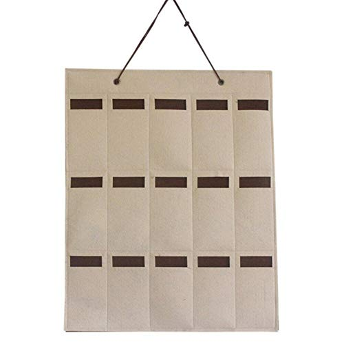 LIMMC Sunglasses Hanging Bag Sonnenbrille Organizer Storage Wall Pocket Display an der Wand hängen Tür hängen Storage Home Organization, A Khaki, Australien