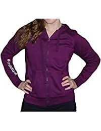 Ladies Maxitone Full Zip Hoodie Celebrity Inspired Gym Workout Track Tops