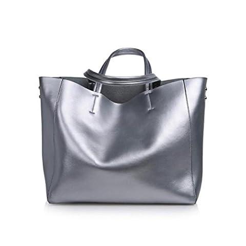 ESAILQ , Sac à main porté au dos pour femme - argent - Silver,