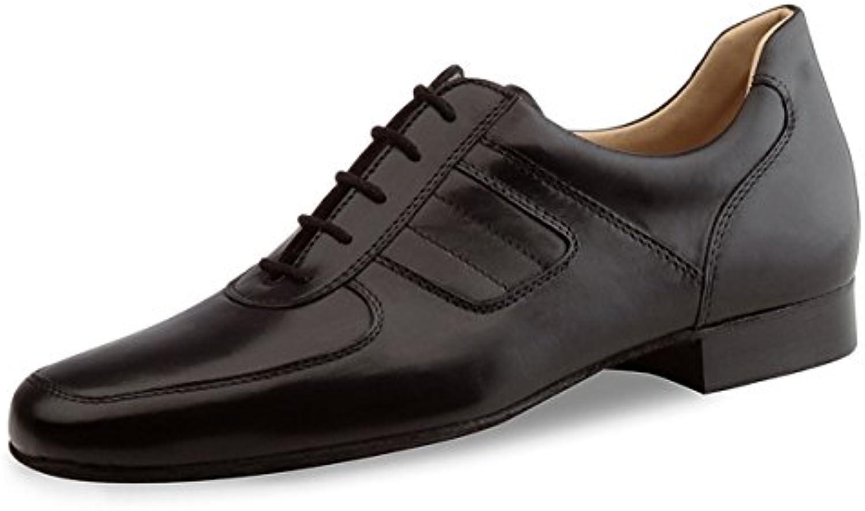 Werner Kern Hombres Zapatos de Baile 28031 - Cuero Negro - 2,5 cm Ballroom  -
