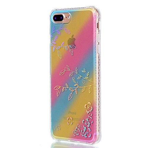 Apple iPhone 7 Plus 5.5 Hülle, Voguecase Schutzhülle / Case / Cover / Hülle / Plating TPU Gel Skin (Sonnenblume 01) + Gratis Universal Eingabestift Geäst