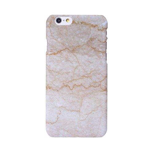 """Coque Cover iPhone 6 / 6S, IJIA Ultra-mince Motif Marbre Naturel Ivoire Blanc PC Plastique Dur Hard Bumper Case Cover Shell Coque Housse Etui pour Apple iPhone 6 / 6S 4.7"""" + 24K Or Autocollant color-HD11"""