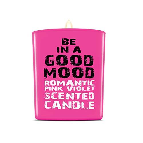 Aromatherapie Kerzen - Hand gegossen ungiftig Mineralwachs & Baumwolldocht (rosa violett)