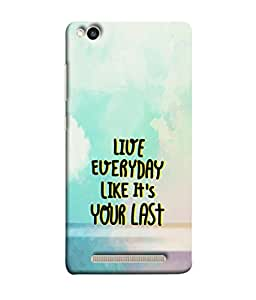 PrintVisa Designer Back Case Cover for Xiaomi Redmi 3s (Live Everyday Inspiring Design)
