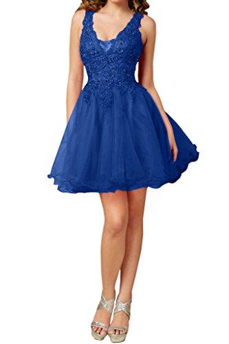 Victory Bridal Wunderschon Rot Kurz Abendkleider Stickreien Cocktailkleider Partykleider Tanzenkleider Royal Blau