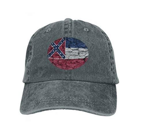 13 Decorative Bar (Xunulyn Classic Cotton Hat Adjustable Plain Cap, Baseball Cap Adjustable Size Curved Visor Hat Texture mississippiflag Mississippi Flag Decorative Tree bar Carbon)