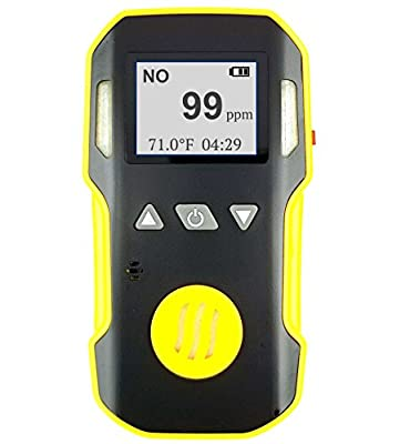 Nitric Oxide NO Detector by FORENSICS & BOSEAN | ABS & Anti-Slip Grip Rubber | Water, Dust & Explosion Proof | Li-ion Battery 1500mAh | Adjustable Sound, Light & Vibration Alarms | 0-250ppm NO | by BOSEAN