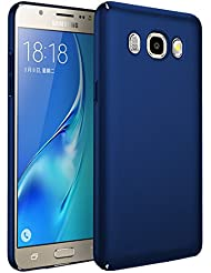 Samsung Galaxy J5 2016 caso, Bylove Slim PC protectora de parachoques hacia atrás caso duro a prueba de golpes cubierta dura para Samsung Galaxy J5 (2016) (Azul)