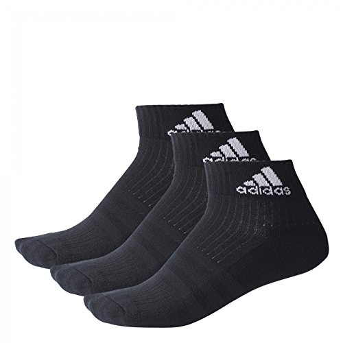 Adidas Quarter Socken Performance Ankle Half Cushioned 6er Pack, Größe:39-42;Farbe:Black / Black / White (A2280) (Adidas Quarter-socken)