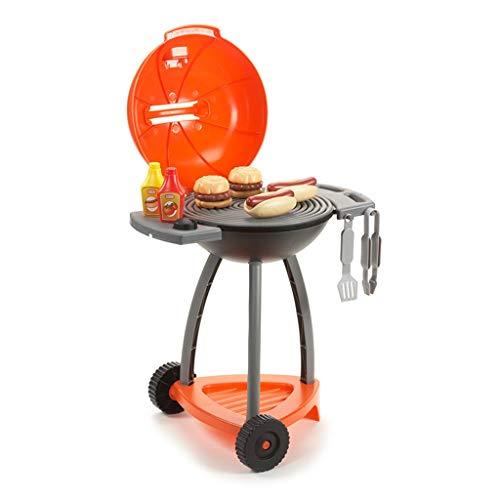 Spielzeugsets Kinder Kunststoff küche Spielzeug küche spielsets Outdoor Grill simulierte Grill 3-6 Jahre alt Junge mädchen Geschenk (Color : Orange, Size : 38 * 50 * 60cm)
