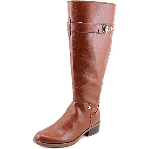 Tommy Hilfiger Gallop2 Rund Kunstleder Mode-Knie hoch Stiefel, Brown Multi LL, 36 EU (Hoch - Brown-leder-knie Stiefel)