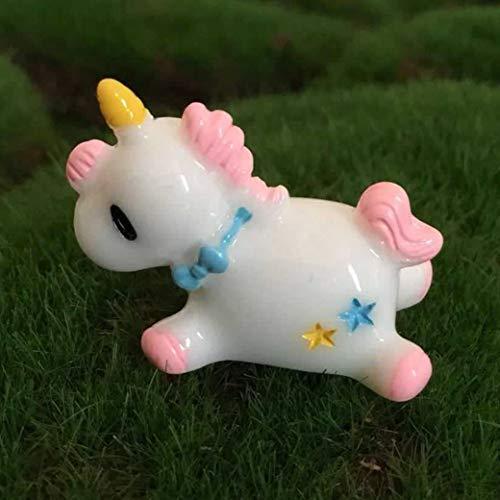 Gecheng Mini Estatua Unicornio Decorado Parque Hadas