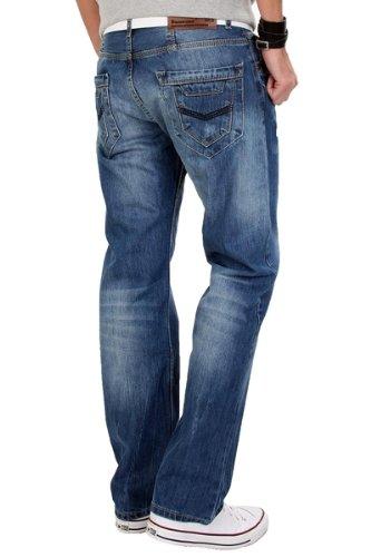Creek rock homme rC - 2039 jean vintage pour homme Bleu - Bleu